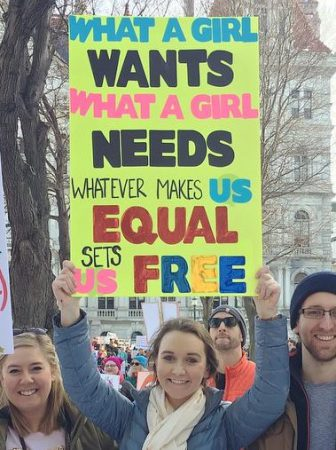 Womens March Albany sign